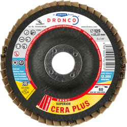 Flap disc for angle grinders Dronco Cera Plus