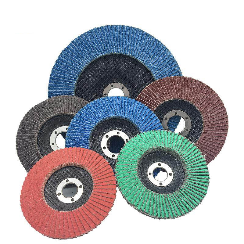 Abrasive flap wheels and discs