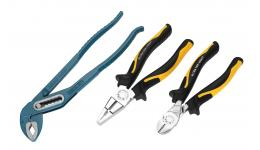 Scissors, pliers, pipe wrenches, tubing cutters