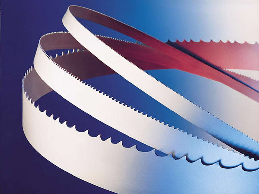 Band saw blades for metal and wood cutting