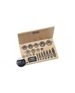 Keermestajate ja keermelõikurite komplekt HexTap M3-24  26tk. HSS-G PUIT kohver 48622 VÖLKEL