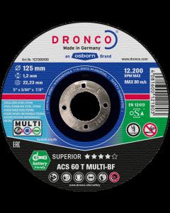 Отрезной круг 115x1.2x22 ACS60T MULTI SUPERIOR DRONCO 1111360100