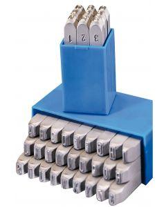 Hand stamp sets (Numbers) GRAVUREM-S Standard 0-9 12.0mm SQ 10012000