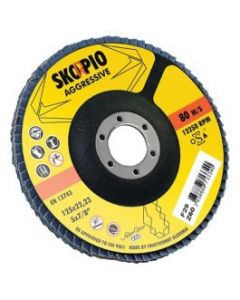 Flap disc 125x22 zircon SKORPIO/METALYNX aggressive  40 tapered WEILER 390399