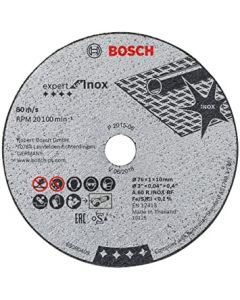 Cutting disc  76x1.0x10 5tk/p INOX BOSCH 2608601520