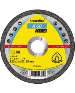 Cutting disc 125x1.0x22 A 60inox EXTRA KLINGSPOR 262937