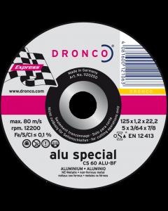Cutting disc 115x1.2x22 CS60ALU Superior DRONCO 1111150100