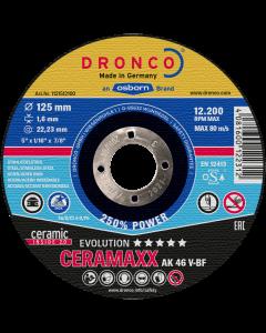 Отрезной круг 125x1.6x22 AK46V CERAMAXX inox evolution DRONCO 1121512100