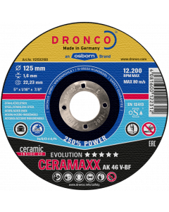 Cutting disc 125x1.2x22 AK60V CERAMAXX inox evolution DRONCO 1121500100