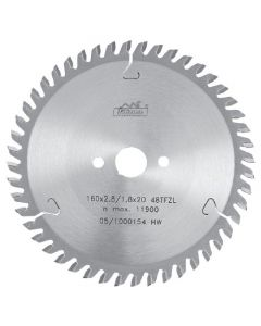 Circular saw blade 160x2.8x20mm  TCT  Z=48  Art. 225391  48  TFZ  L   PILANA
