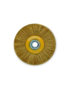 "Wheel brush 150x18x35x1/2-5/8""(12.7/16.0mm) crimped wire 0.3mm 0008-601721 ECO OSBORN"
