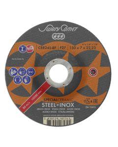 Обдирочный диск 125x 7.0x22 CERT24T-BF CERAMIC T42 SKORPIO/METALYNX