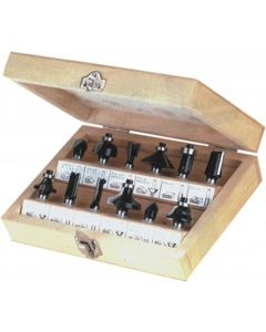 Wood Cutters Set 12pcs. shank Ø8.0mm PROMA 06011137