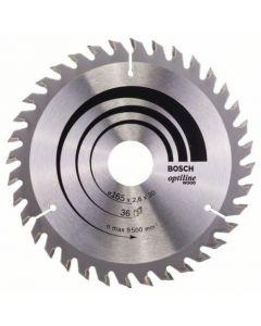 Circular saw blade 165x30.0 mm TCT Optiline Wood BOSCH 2608640603