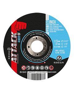 Cutting disc 115x1.0x22 A 60R inox ATTACK DRONCO 1110240123