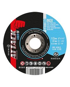 Отрезной круг 115x1.0x22 A 60R inox ATTACK DRONCO 1110240123