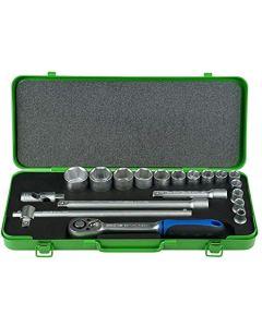 """Padrun võtmete k-t 12-kant 1/2"""" (14 pead 3/8-1.1/4"""") met.kohver N977AF U PADRE"""
