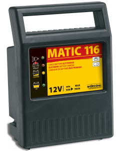 MATIC 116 Inverter Fully Automatic Battery Charges 230V/ 80W 12V/  6A  5/90Ah DECA