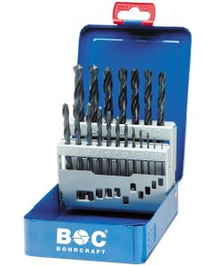 Metalliporanteräsarja CYLINDRICAL 1.0-13.0mm  25tk.HSS standart steel box BOHRCRAFT 11001310025
