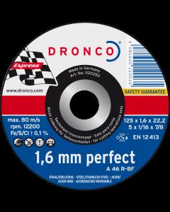 Cutting disc 115x1.6x22 A 46R inox PERFECT DRONCO 1110250100