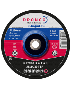 Grinding disc 115x 6.0x22 AS24/30T superior T42 DRONCO 3116520100
