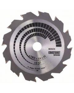 Circular saw blade 160x2.4x16.0mm TCT Construct Wood BOSCH 2608640630