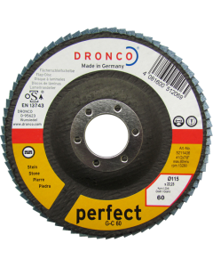 Flap disc 115x22 G-C 40 tapered perfect DRONCO 5211404