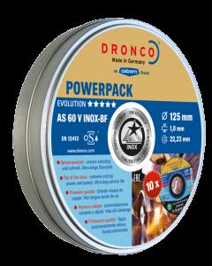 Cutting disc 115x1.0x22 AS60V inox metal tin 10pcs EVOLUTION DRONCO 6900975100