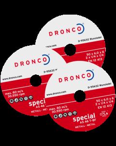 Grinding disc  76x6.0x10 A46T MINI superior T41 DRONCO 6407600100
