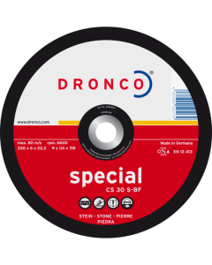 Grinding disc for stone 125x6.0x22 CS30S superior T42 DRONCO 3126660100