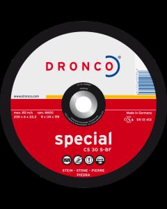 Обдирочный диск по камню 125x6.0x22 CS30S superior T42 DRONCO 3126660100