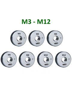 Go Thread Ring Gage Set M3-M12 ISO1502  6g GO 7pcs. INSIZE 4120-S7