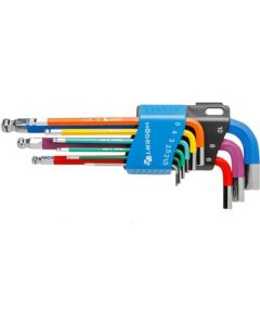 Ball HEX key set 1.5-2-2.5-3-4-5-6-8-10 colour coded 077900000 PADRE