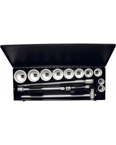 "Socket set 12-point  1"" (10 sockets 36-80) metal storage case No.780-10M ELORA"