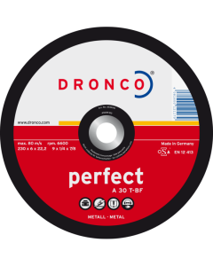 Grinding disc 100x6.0x16 A 30T perfect T42 DRONCO 3106040100