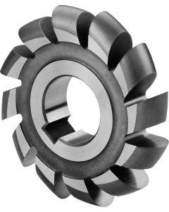 Half circle milling cutter CONVEX R 8.0 x 80 x16x27 mm z=12 HSS 810070.080 DIN856 ZPS