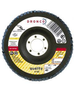 Flap disc 115x22 ZIRCON G-QZ 40 tapered DRONCO 5211234