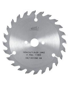 Circular saw blade 160x2.8x20mm  TCT  Z=18  Art. 225391  18  WZ   PILANA