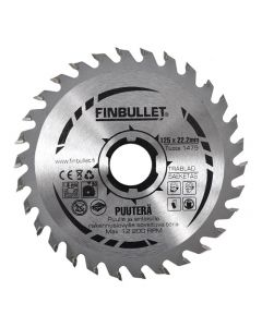 Circular saw blade 125.0x1.8x22.2 mm TCT  Z=30 FINBULLET