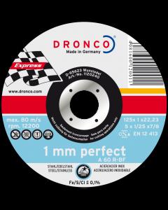 Lõikeketas 115x1.0x22 A 60R inox PERFECT DRONCO 1110240100