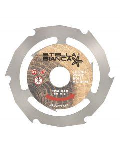 Circular saw blade 125.0x22.2 mm HSS for wood and plastic STELLA BIANCA 097X125