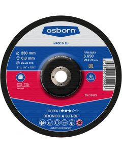 Grinding disc 125x 6.0x22 A 30T perfect T42 OSBORN/DRONCO 3126040101