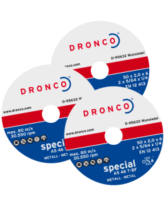 Cutting disc  76x1.6x10 AS46T SPECIAL DRONCO 6407622100