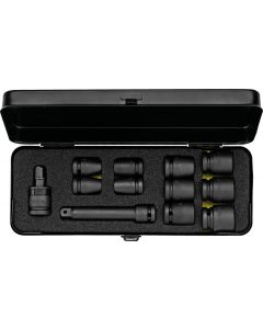 "Impact socket set  6-point 1/2"" (10 sockets 10-24) metal storage case No.790-S12 ELORA"