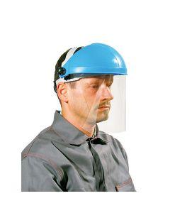 Näokaitse visiir + peavõru (klaas 350 x 205mm) DIN CE5